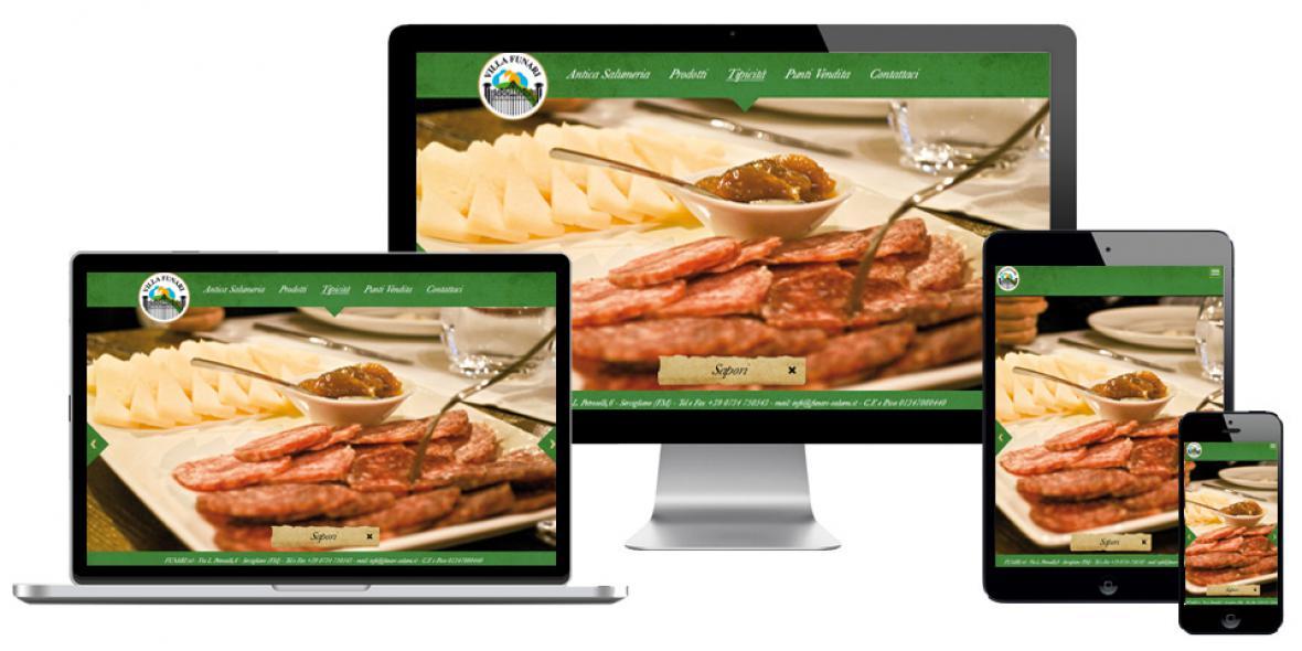 Funari salumi sito responsivi